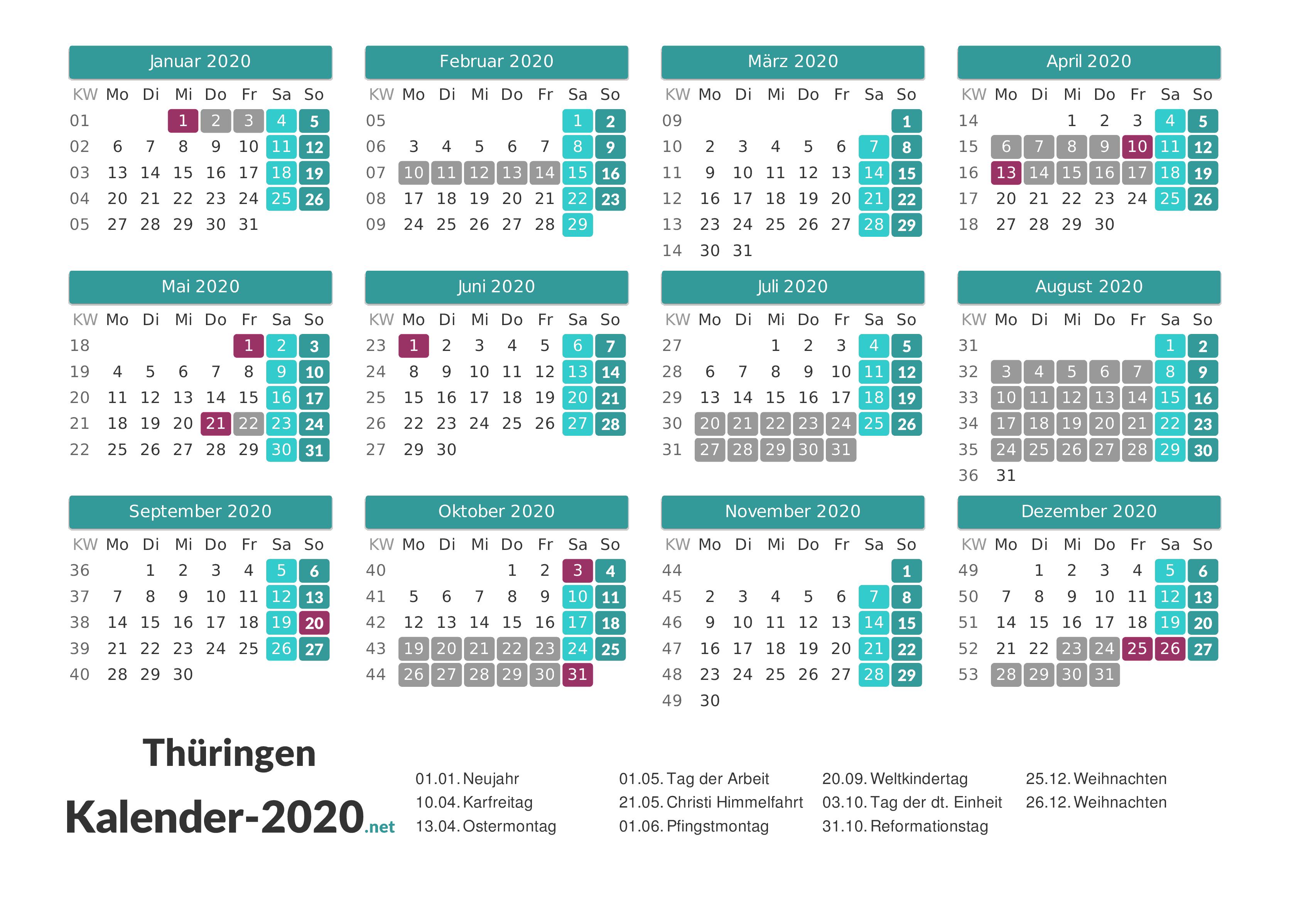 thüringen sommerferien 2019